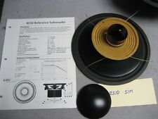 ADS A/D/S RS10 Re-cone kit Old School warranty by asdspeakersservice.com
