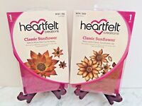 Lot Set Heartfelt Creations Die+Stamp Set ~ Classic Sunflower, HCD753+HCPC3626