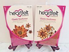 Lot Set Heartfelt Creations Die+Stamp Set ~ Classic Sunflower, HCD753+HCPC3626