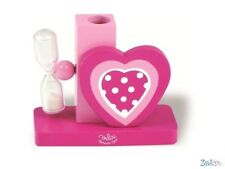 Toothbrush holder with sandglass Heart in wood Vilac - NEW