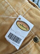 Talbots 10 LONG Stretch Corduroy Yellow Actual Waist 31.5 Inseam 33.25 NWT $98