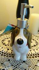 Pioneer Woman Charlie Basset Hound Dog Soap Pump Dispenser Bath Kitchen NWT (S)