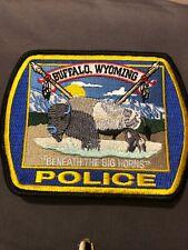 Wyoming  Police-  Buffalo   Police - WY  Police Patch