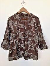 ROCHA JOHN ROCHA, Brown & white blouse, UK size 16.