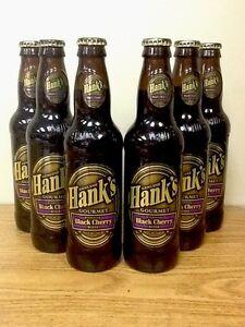 Hank's Gourmet Black Cherry Sixpack Glass Bottle Soda Pop