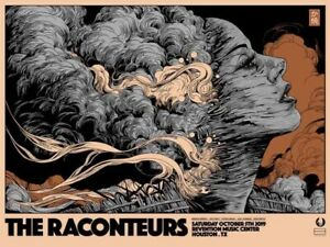 THE RACONTEURS Houston 10/5/19 Concert Poster - Ken Taylor - Jack White