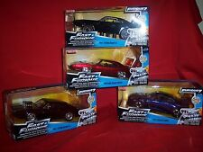 Fast and Furious Diecast 1:24 cars  set of 4 cars Jada Charger skyline Gtr