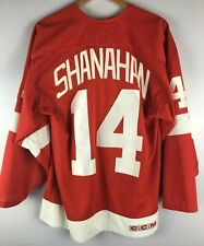 ORGINAL-CCM- SHANAHAN-DETROIT RED WINGS-JERSEY-TRIKOT-NHL-Gr.L-Made in Canada