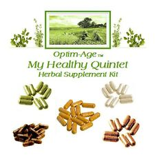 QUINTET ANTI-AGING 60 Day 5 HERB NRF2 PROtandem Synergizers Bacopa Tea Thistle +