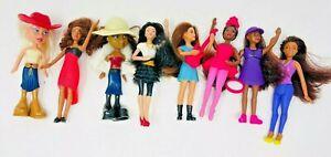 Lot 8 Vintage Barbie & Bratz Mini Dolls Figures - McDonalds Happy Meal Toys