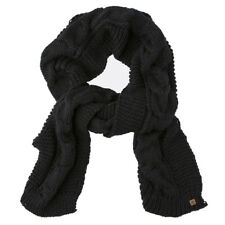 ELEMENT NEW Mens Black Feather Top Scarf BNWT