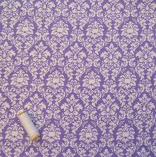 Lilla Motivo Damascato Cotone Spazzolato Dressmaking tessuto * MICHAEL MILLER *