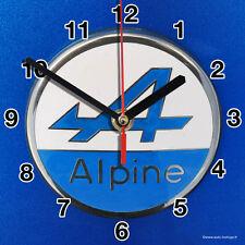 HORLOGE MURALE Logo ALPINE RENAULT SUR TOLE BLEUE-01M