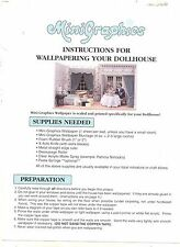 """How to Wallpaper Your Dollhouse"" Minigraphics Booklet 1/12 scale MG118"