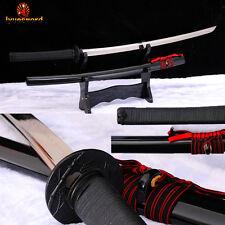 Full Tang Samurai KATANA T10 Clay Tempered Japanese Sword Battle Sharp Blade