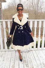 New Designer Purple Broadtail & Mink Fur coat jacket stroller +free hat S 0-6
