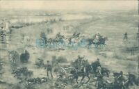 WW1 Panorama battle of Yser horse artillery unposted