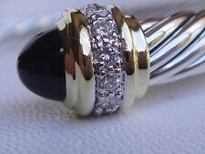 $3550 DAVID YURMAN 18K,SS DIAMOND BLACK ONYX BRACELET