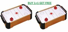 2 X MINI TABLE TOP AIR HOCKEY GAME PUSHERS PUCKS FAMILY XMAS GIFT ARCADE TOY SET