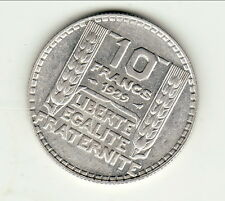 10 FRANCS TURIN ARGENT 1929 SUP  type turin argent cote 25 euro