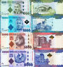 TANZANIA SET 4 PCS 500 1000 2000 5000 SHILLINGS 2010 2015 P 40-43 UNC