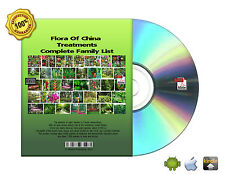 """Complete Family List """"Flora Of China""""  Treatments Books 25 volume On CD"""