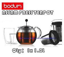 BRAND NEW BODUM ASSAM PRESS TEAPOT WITH STAINLESS STEEL FILTER. 1 LITER