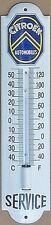 Citroen Service (white) vitreous enamel steel thermometer  (wm)