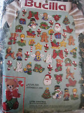 Bucilla FELT APPLIQUE ORNAMENT KIT,LOTSA CHRISTMAS,25 Designs,Set of 50,#82933