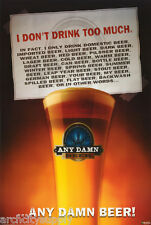 Poster :Comical : Any Damn Beer Free Shipping! #24-106 Lp34 i
