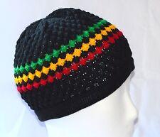 Rasta Gorro de punto _ de punto sombrero _ Calavera cap _ Reggae, hippie