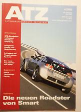 Zeitschrift ATZ 04/2003 Smart Roadster Fach-Literatur Entwicklung Technik selten
