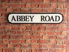 Vintage Wood London Street Road Sign ABBEY ROAD