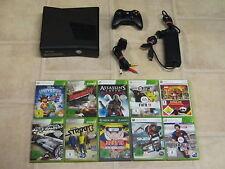Xbox 360 Konsole Slim Schwarz Kinect Ready mit 3 Gratis Spiele + Controller