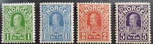 1918 Norway MINT never hinged  sc70-73