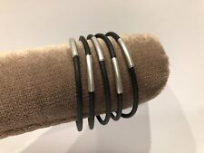 Nuevo - 5x Pulseras Bracelet SEDISTRI - Caucho + tubos Aluminio - Caoutchouc