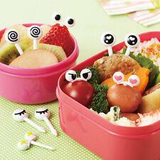 Baby Kid Set Cute Eye Mini Food Fruit Picks Forks Bento Lunch Box Tool Tableware