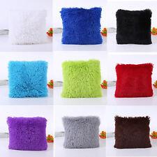 Velvet Plush Fur Faux Pillow Case Bed Sofa Waist Throw Cushion Cover Home Decor