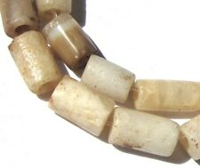 19 RARE SMALL STUNNING ANCIENT BANDED AGATE/CRYSTAL ROCK QUARTZ MALI BEADS