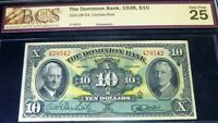 1938 $10 ,THE DOMINION BANK