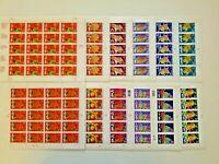 US Lunar New Year Series 1 set 12 Sheets 1993-2004 12 Zodiac Animals RAT OX...