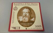 San Marino 2005 2 € Euro Sondermünze Gedenkmünze im Folder Galileo Galilei
