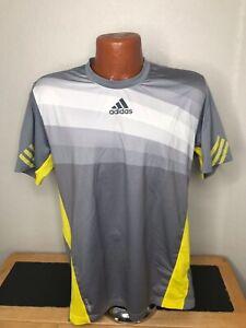 Men's Adidas Adizero S/S Athletic T-Shirt Size Medium (M) Striped - Polyester