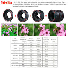 Auto Focus Macro Extension Tube Adapter Rings For Canon All EF &EF-S Lenses Z5X6