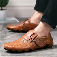 Men's Comfort Driving Car Leather Slip-on Loafers Boat Shoes