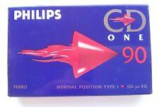 Philips CD ONE 90 Ferric Blank Audio Cassette 90 Minute Tape V2 New Sealed Stock