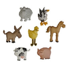 Boutons Dress It Up - Funny Farm / Animaux Ferme Mignon