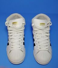 Adidas Pro Model La Marque Aux 3 Bands Leather HighTop Sneakers SZ 5