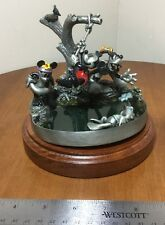 RARE Artist Proof Disney Hudson Creek Mickey Donald BEATIN' THE HEAT Fine Pewter