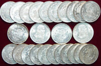 4 BIG 34mm Brilliant Uncirculated Silver Mexico Un Peso Coin! Mexican Un Peso!
